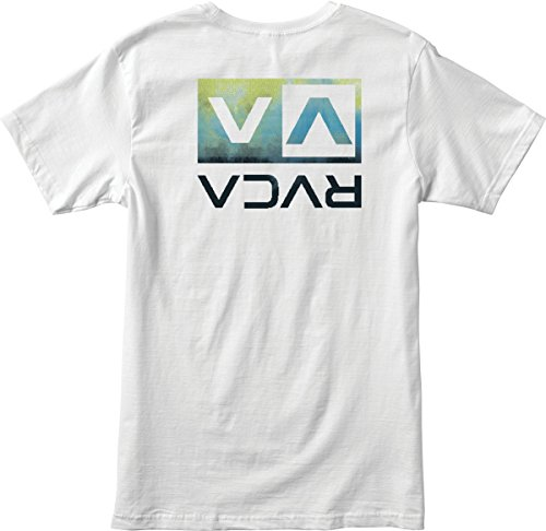 RVCA Men's Electro Flipped Box Tee, White, Medium