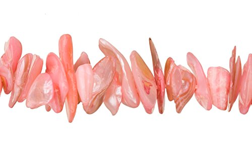 Coral Pink Mother-of-Pearl Nacre Nuggets Shell Beads Size:9x7mm