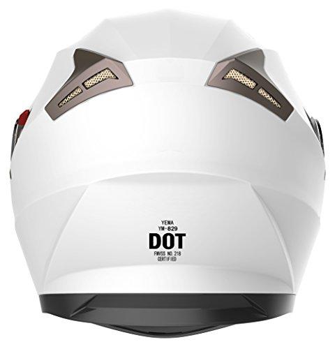 Amazon.com: YEMA Helmet Visor Face Shield for YM-829 and YM-831, Clear: Automotive