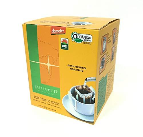 Café Gran Reserva Orgânico Dripcoffe Latitude 13, 100g, 10 Sachês