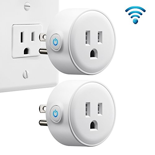 Pack Finish Fan (GMYLE 2 Pack Mini Wi-Fi Smart Plugs Socket Outlet Switch, Timing Function, Remote Control Your Electric Devices from Anywhere, No Hub Required, Compatible with Amazon Alexa Echo & Google Home)