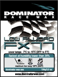 DOMINATOR LOW-FLUORO HOT WAX FOR LOW HUMIDITY SNOW, TURQUOISE, COLD ()