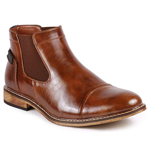 Metrocharm MC148 Men's Cap Toe Formal Dress Casual Ankle Chelsea Boot
