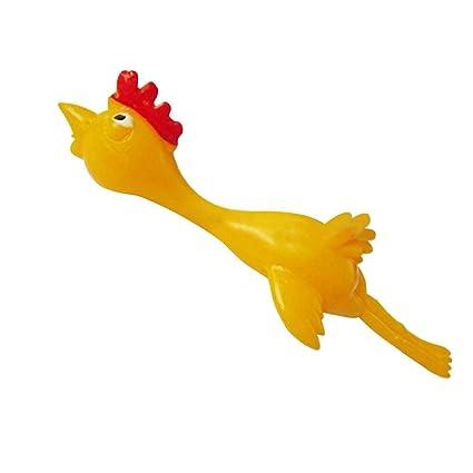 Crazy-Store 11.5cm Novelty Joke Finger Toys Stretchy Flying Laugh Turkey Sticky Chicken