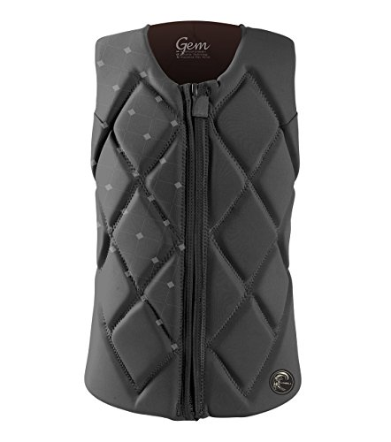 (O'Neill Women's Gem Comp Life Vest, Graphite/Graphite/Pepper, 8)