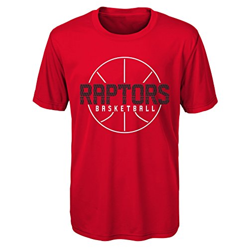 "NBA Kids & Youth Boys ""Ultra"" Short Sleeve Tee Toronto Raptors-Red-L(14-16)"
