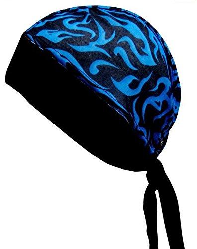 Schampa Stretch Z-wrap (Blue and Black Pinstripe Flames, One ()