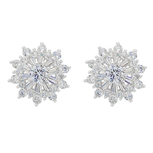 EVER FAITH Sterling Zirconia Snowflake product image