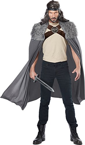 California Costumes Men's Dragon Master Cape, Gray One Size -