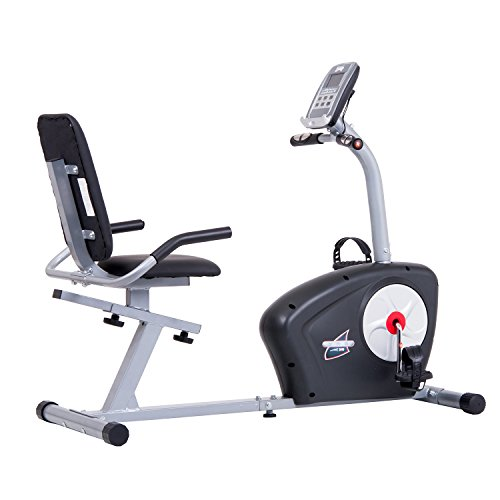 Black Friday Fitness Cyber Monday PROMO! Body Champ Magnetic Recumbent Exercise Bike with Computer Program, Pulse and Resistance / Reclined Seat Back Support