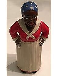 Vintage.1930 AUNT JEMIMA Hubley Cast Iron Still Bank in Original Condition 818
