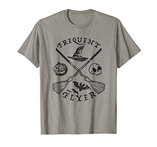 Funny Halloween Frequent Flyer Shirt Witch Costume