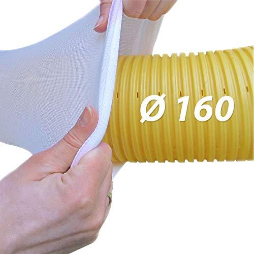 10m Drainagevlies Filterstrumpf f/ür Drainagerohr DN160