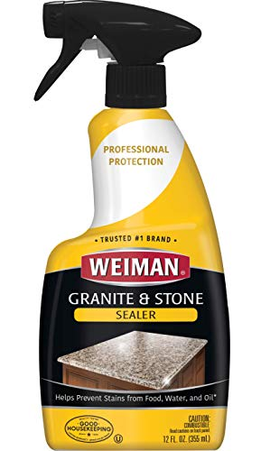 affordable Weiman Granite Sealer and Protector for Granite Marble Onyx Travertine Limestone - Use On Countertops Floors Shower Stalls Fireplaces and Vanities