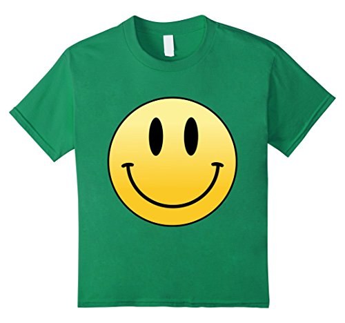 Kids Mr Happy Smiley Face - T-Shirt 6 Kelly Green - Happy Face T-shirt