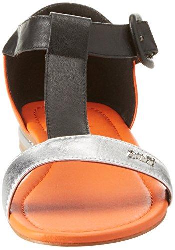 Black con Gaudì Pulsera Sandalia V4601 para Connie Silver Multicolor Mujer OOr8F7