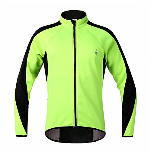 - Sunday Casual Long Sleeves Men Fleece Thermal Jacket Cycling Bike Bicycle Wind Coat Clothes Jerseys