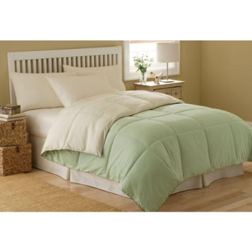 MARRIKAS REVERSIBLE Microfiber Down Alternative QUEEN Comforter