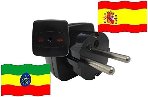 Adaptador de viaje de España a Etiopia ES_ET Conector de viaje ...