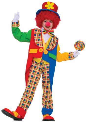 Bozo Clown Costumes (Forum Novelties Clown On The Town Costume, Small)