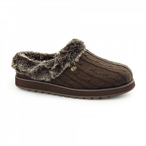 Skechers Womens / Ladies Keepsakes Ice Angel Slip On Mule Pantofole Carboncino