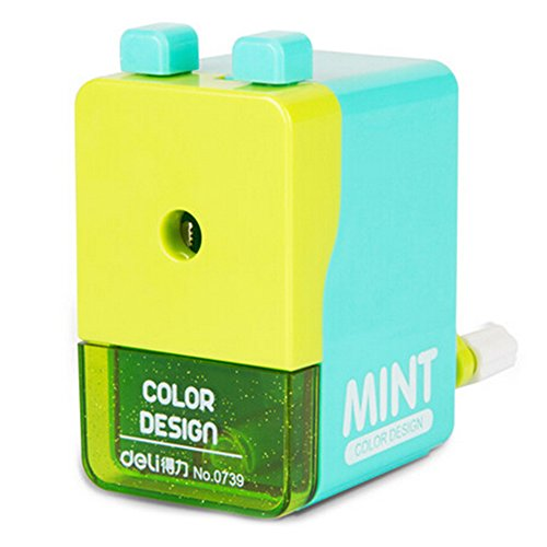 Creativa sacapuntas manual de doble botón estudiantes sacapuntas, verde