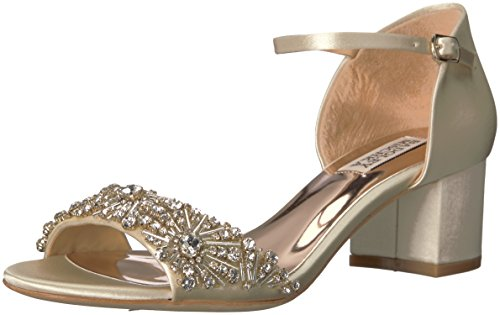 Badgley Mischka Women's Mareva Heeled Sandal, Ivory, 8.5 M US by Badgley Mischka