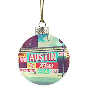 Austin, Texas Neon Wall Glass Ornament - Amazon.com: Austin Texas Christmas ORNAMENT 6th Street Music Bat