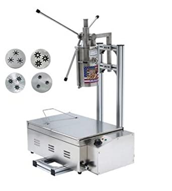 5L español churro Panificadora comercial profesional churro eléctrica herramienta cocina cocina repostería con cortador + 25L freidora eléctrica de 220 V ...