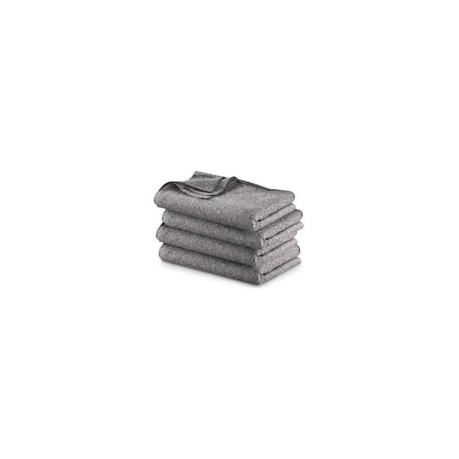 Military Surplus Gray Wool Blend Blanket, 4 Pack, Gray, 4PKB