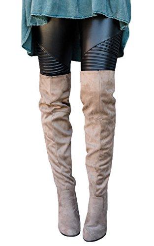 Moto Leather (Lovaru Womens Fashion Ribbed Stretchy Leather Pants Moto Leggings Ankle Length)