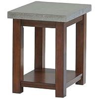 Progressive Furniture P426-29 Cascade Chairside Ead Table, Nutmeg and cement