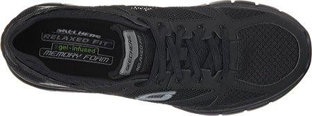Skechers Skech-FlexLife Force - zapatilla deportiva de material sintético hombre negro