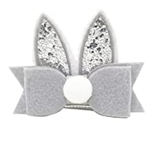 10PCS Toddler Girls Cute Bunny Ears Glitter Sequins Hairpin Hair Clips Accessories