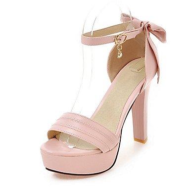 Beige Oficina Trabajo LvYuan Mujer Robusto PU Tacón Sandalias Pink Vestido Blanco y Fiesta Otro y Noche Rosa qXR0xRwZg
