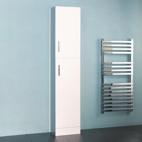 Bathroom Cabinet Tall Storage Unit - White Modern Design - Hi ...