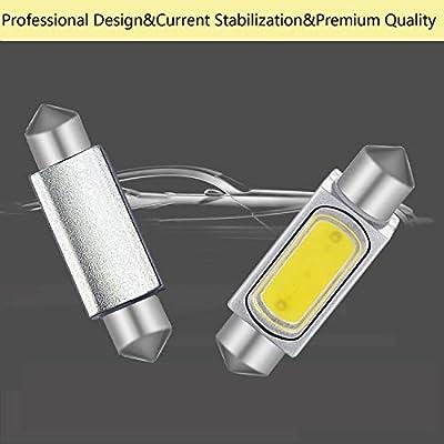 578 Festoon LED Bulb 41mm 42mm, 578 LED Bulb White Super Bright 41mm 42mm Canbus Error Free 578 Dome Light Led, LED Interior Light MAP Light 211-2 212-2 LED Bulb: Automotive