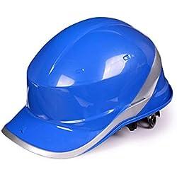 Casco de Seguridad de construcción - Casco de ABS de Alta Resistencia Sitio de construcción Liderazgo Control de inundaciones Casco de Seguridad de construcción (Color : Azul)