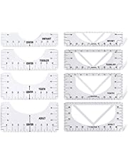 Tshirt Ruler Guide for Vinyl Placement - Pack of 5 PCS t Shirt Rulers to Center Designs - PVC Alignment Tool for Measurement, Heat Press, Printing and Sublimation