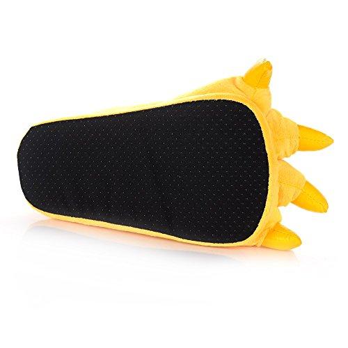 Gr Paw Cute Cartoon Winter Tier Warm Pantoffeln mit Hochwertigen Plüsch Ober-und Rutschfeste Outsole (Color : Yellow, Size : M)