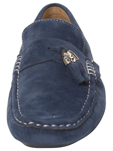 Mens Moccasins Suede Look Shoes Slip On Boat Deck Driving Smart Buckle Loafers Blue hpDBdqN