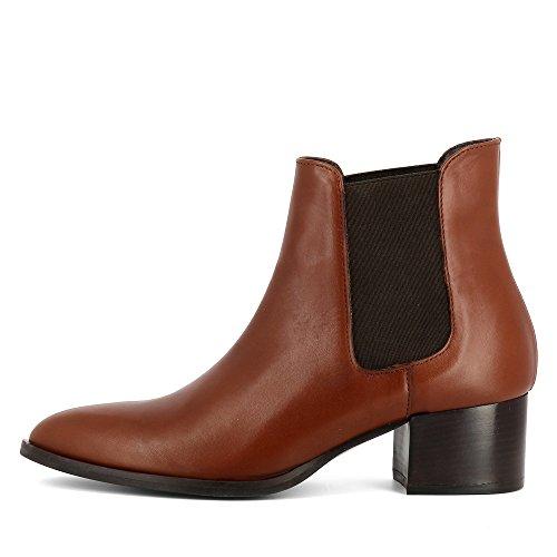 Evita Shoes Belinda Damen Stiefelette Glattleder Cognac