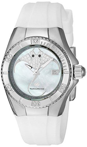Technomarine Women's 'Cruise' Quartz Stainless Steel and Silicone Casual Watch, Color:White (Model: TM-115253)