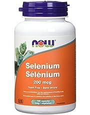 NOW Selenium 200mcg (Yeastfree) Veg Capsules, 180 Count
