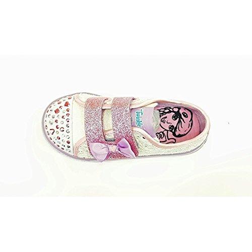 Pour Pas Fille Silver Premiers Pink Skechers Blanc Chaussures White Bébé rose argenté TxWFC1p1n