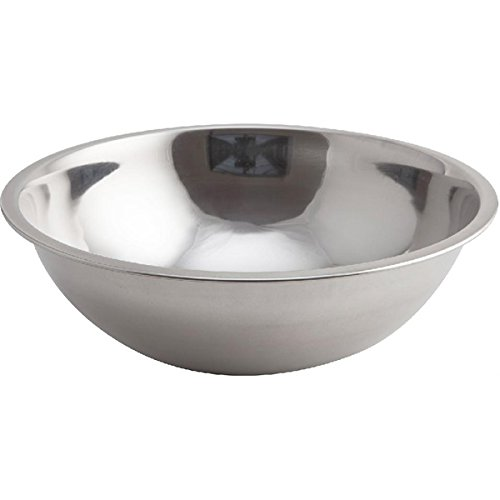 Genware NEV-2028 Bowl, Mixing Stainless Steel, 2.5 L