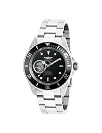 Invicta Men's 'Pro Diver' Stainless Steel Automatic Watch, Silver-Toned (Model: 20433)