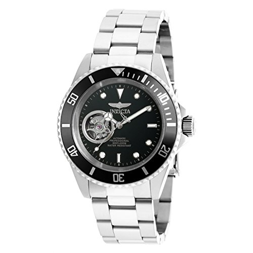 Invicta Men's 'Pro Diver' Stainless Steel Automatic Watch, Color:Silver-Toned (Model: 20433) - Invicta Bezel