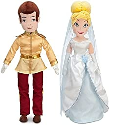 Cinderella Plush Prince Charming Doll -- 21\'\' H and Plush Wedding Cinderella Doll -- 21\'\' H