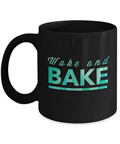 Weed Coffee Mug - Wake and Bake- 11 - Coffee Mug Pot Pipe